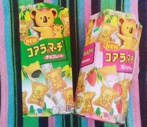 Biscotti Koala giapponesi: Recensione dei gusti cioccolato e fragola