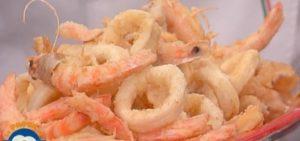 Ricette La prova del cuoco: frittura di calamari e gamberi di Campoli