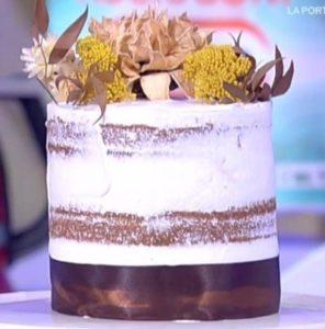 Detto Fatto oggi: ricetta torta nuda con fiori di Valentina Leporati