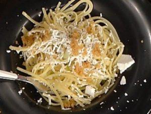 Ricette La prova del cuoco: linguine con lardo di Diego Bongiovanni