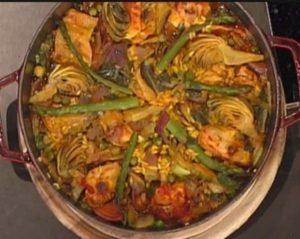 Ricette La prova del cuoco: paella con coniglio di Diego Bongiovanni