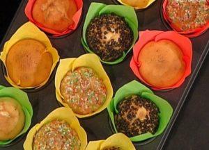 La prova del cuoco oggi: ricetta muffin colorati di Rita Dalla Chiesa