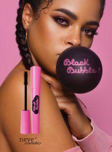 Neve Cosmetics lancia il nuovo mascara Black Bubble strawberry