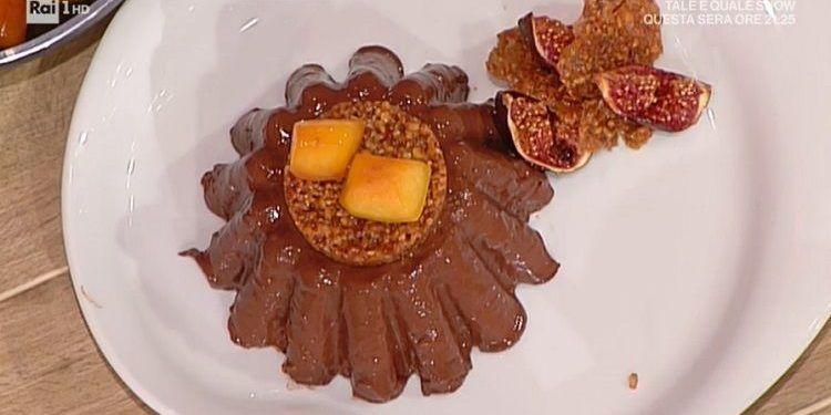 La prova del cuoco budino cioccolato fondente