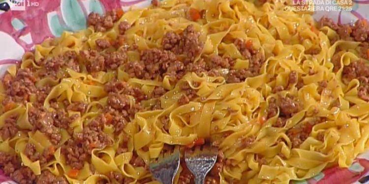 La prova del cuoco tagliatelle al ragù