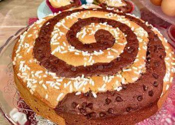 La prova del cuoco Torta a spirale bicolore