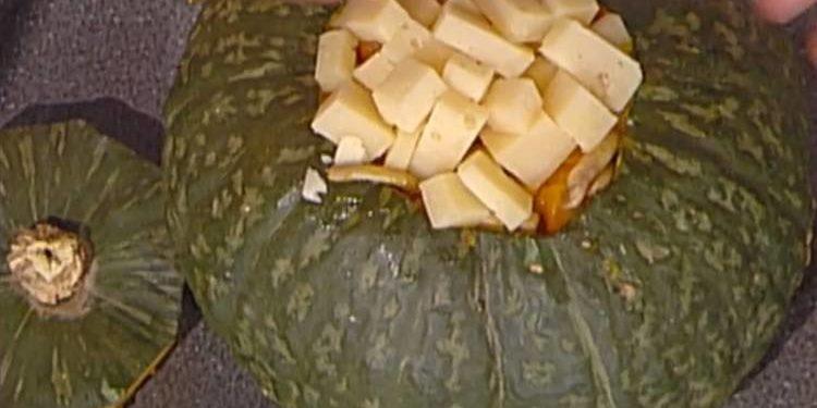 La prova del cuoco zucca ripiena di Halloween