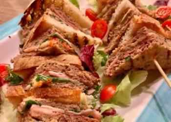 La prova del cuoco sandwich di carne
