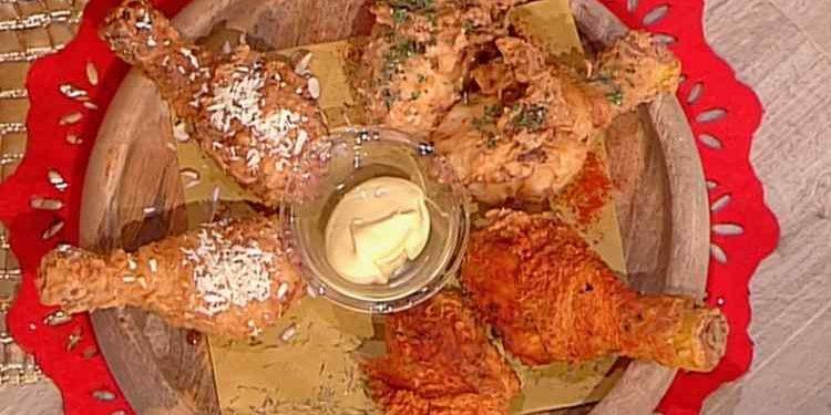 La prova del cuoco coscette di pollo speziate fritte