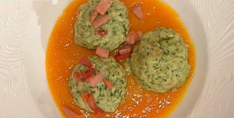 La prova del cuoco canederli spinaci zucca
