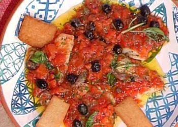 La prova del cuoco platessa alla mediterranea