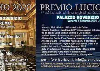 Sanremo 2020 Premio Lucio Dalla