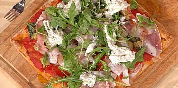 La prova del cuoco pizza lonza melanzane stracciata