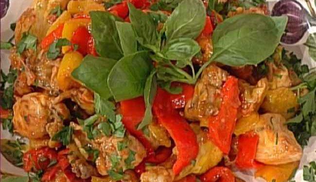 La prova del cuoco pollo con i peperoni