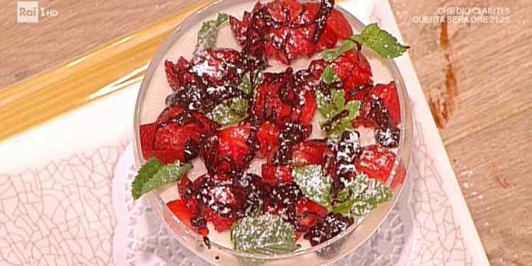 La prova del cuoco cremoso ricotta fragole e cioccolato