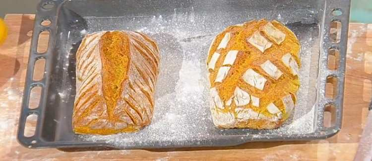 Pane curcuma semi di lino è sempre mezzogiorno