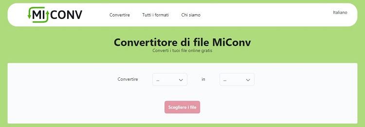 Convertire file online